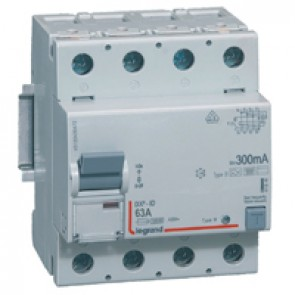 RCD DX³-ID - 4P 230 V~ - 63 A - 300 mA - B type - neutral on left-hand