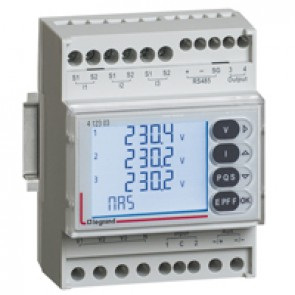 Multifunction measuring unit with digital inputs EMDX³ - rail mounting - 4 modules