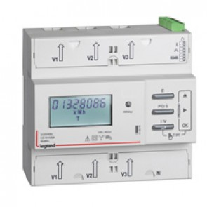 Three-phase meter EMDX³ with direct connection - MID compliant - 125 A - RS485 and pulse outputs - 6 modules