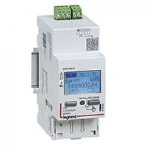 Single-phase meter EMDX³ direct connection - non-MID - 63 A - pulse output - 2 modules