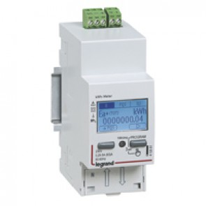 Single-phase meter EMDX³ direct connection - non-MID - 63 A - RS485 output - 2 modules