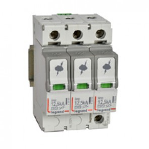 SPD - protection of main distribution board - T1+T2 - limp 12.5 kA/pole - 3P
