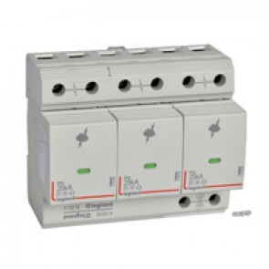 SPD - high risk level installation - T1+T2 - limp 25 kA/pole - 3P