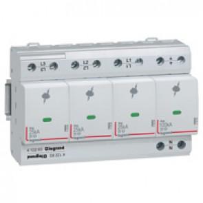SPD - high risk level installation - T1+T2 - limp 25 kA/pole - 3P+N right