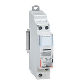 Single pole latching relay - silent - 16 A - delayed