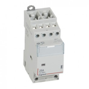 Power contactor CX³ - with 24 V~ coll - 4P 400 V~ -25 A - 2 N/C+ 2 N/O