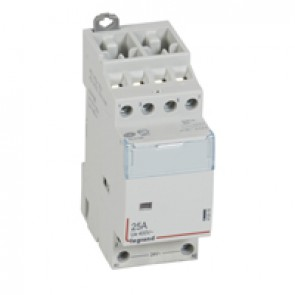 Power contactor CX³ - with 24 V~ coll - 4P 400 V~ - 25 A - 4 N/O