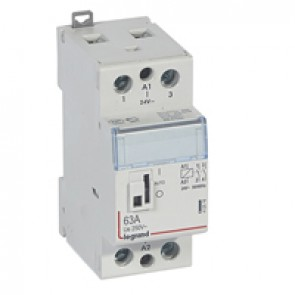 Power contactor CX³ - with 24 V~ coll and handle - 2P 250 V~ - 63 A