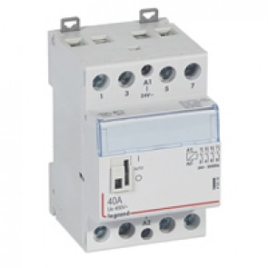 Power contactor CX³ - with 24 V~ coll and handle - 4P 400 V~ - 40 A