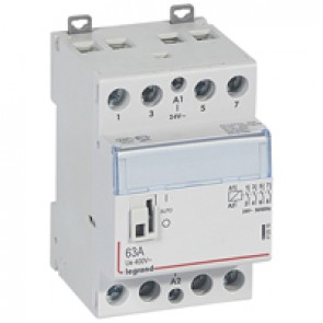 Power contactor CX³ - with 24 V~ coll and handle - 4P 400 V~ - 63 A