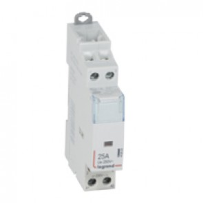 Power contactor CX³ - with 230 V~ coll - 2P 250 V~ - 25 A - 2 N/O