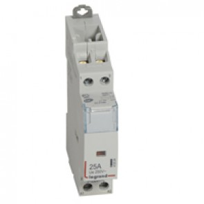 Power contactor CX³ - with 230 V~ coll - 2P 250 V~ - 25 A - 2 N/C