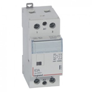 Power contactor CX³ - with 230 V~ coll - 2P 250 V~ - 63 A - 2 N/O