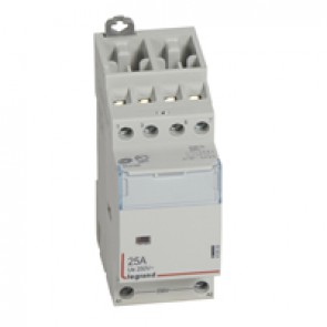 Power contactor CX³ - with 230 V~ coll - 4P 400 V~ - 25 A - 2 N/C + 2N/O