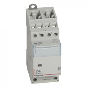 Power contactor CX³ - with 230 V~ coll - 4P 400 V~ - 25 A - 4 N/C