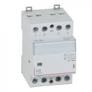 Power contactor CX³ - with 230 V~ coll - 4P 400 V~ - 63 A - 4 N/O