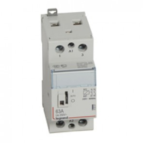 Power contactor CX³ - with 230 V~ coll and handle - 2P 250 V~ - 63 A - 2 N/O