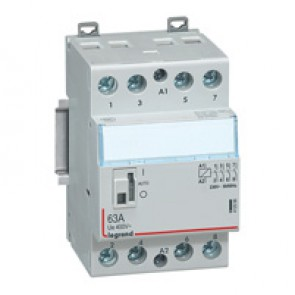 Power contactor CX³ - with 230 V~ coll and handle - 4P 400 V~ - 63 A - 2 N/O