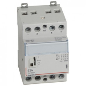 Power contactor CX³ - with 230 V~ coll and handle - 4P 400 V~ - 63 A - 2 N/C