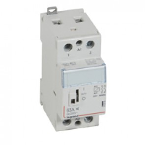 Power contactor CX³ - with 230 V~ coll and handle - 2P 250 V~ - 63 A - silent