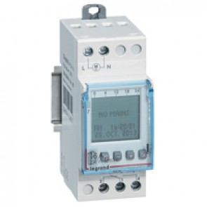 Programmable time switch digital disp. -230 V~ -multifunction 56 prog. -1 output