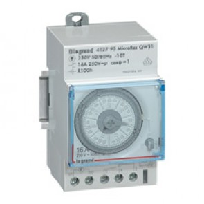 Programmable time switch - horiz. dial - weekly prog. - 100h working reserve