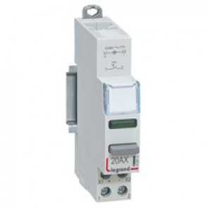 Control switch dual functions - 20 A 250 V~ - NO + green LED 12/48 V
