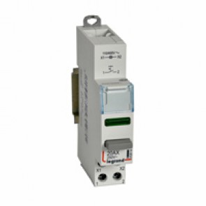 Control switch dual functions - 20 A 250 V~ - 1 NO + green indicator