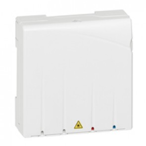 Unit for 1 optical fibre + SC/APC connector