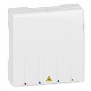Unit for 4 optical fibres + SC/APC connector