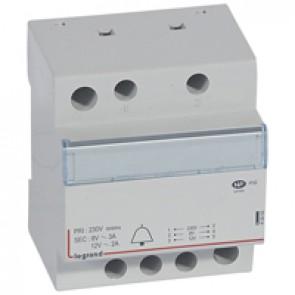 Bell transformer 230 V/12 V - 8 V - 24 VA - 4 modules