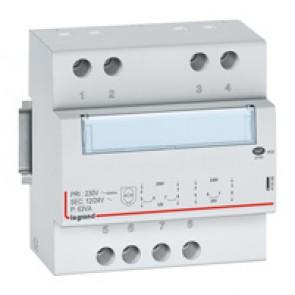 Safety transformer 230 V/12 or 24 V -63 VA - 5 modules