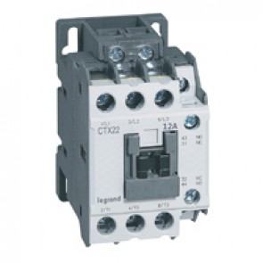 3-pole contactors CTX³ 22 - 12 A - 24 V~ - 1 NO + 1 NC - screw terminals