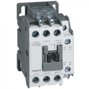 3-pole contactors CTX³ 22 - 12 A 230 V~ - 1 NO + 1 NC - screw terminals