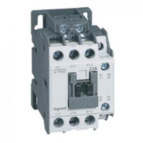 3-pole contactors CTX³ 22 - 22 A - 24 V~ - 1 NO + 1 NC - screw terminals