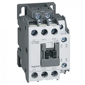 3-pole contactors CTX³ 22 - 22 A - 415 V~ - 1 NO + 1 NC - screw terminals