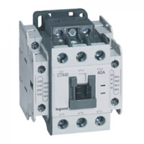 3-pole contactors CTX³ 40 - 40 A - 24 V= - 2 NO + 2 NC - screw terminals