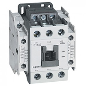 3-pole contactors CTX³ 40 - 40 A - 415 V~ - 2 NO + 2 NC - screw terminals