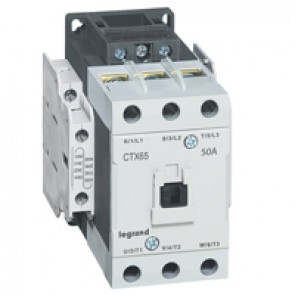 3-pole contactors CTX³ 65 - 50 A 230 V~ - 2 NO + 2 NC - screw terminals