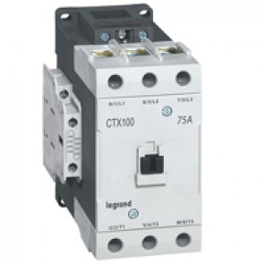 3-pole contactors CTX³ 65 - 75 A 230 V~ - 2 NO + 2 NC - screw terminals