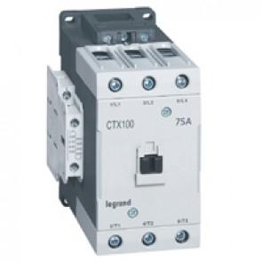 3-pole contactors CTX³ 65 - 75 A - 110 V~ - 2 NO + 2 NC - lug terminals