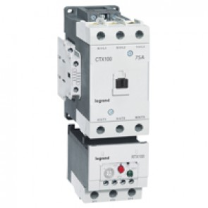 3-pole contactors CTX³ 65 - 100 A 230 V~ - 2 NO + 2 NC - screw terminals