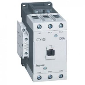 3-pole contactors CTX³ 65 - 100 A - 110 V~ - 2 NO + 2 NC - lug terminals