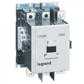 3-pole contactors CTX³ 225 - 185 A - 100-240 V~/= - 2 NO + 2 NC -screw terminals