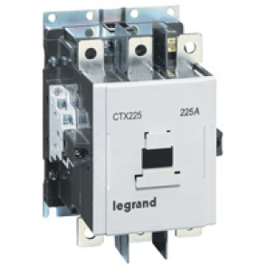 3-pole contactors CTX³ 225 - 225 A - 100-240 V~/= - 2 NO + 2 NC -screw terminals