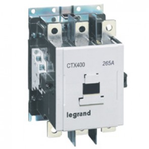 3-pole contactors CTX³ 400 - 265 A - 100-240 V~/= - 2 NO + 2 NC -screw terminals