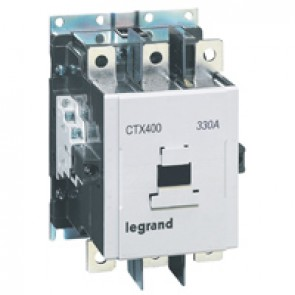 3-pole contactors CTX³ 400 - 330 A - 100-240 V~/= - 2 NO + 2 NC -screw terminals
