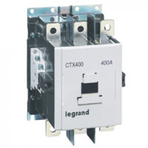 3-pole contactors CTX³ 400 - 400 A - 380-450 V~ - 2 NO + 2 NC -screw terminals