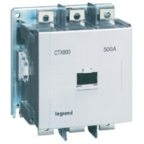 3-pole contactors CTX³ 800 - 500 A - 200-240 V~/= - 2 NO + 2 NC -screw terminals