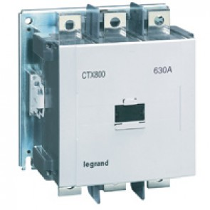 3-pole contactors CTX³ 800 - 630 A - 200-240 V~/= - 2 NO + 2 NC -screw terminals